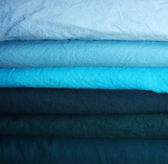 tissus de coton teints - décor du stand