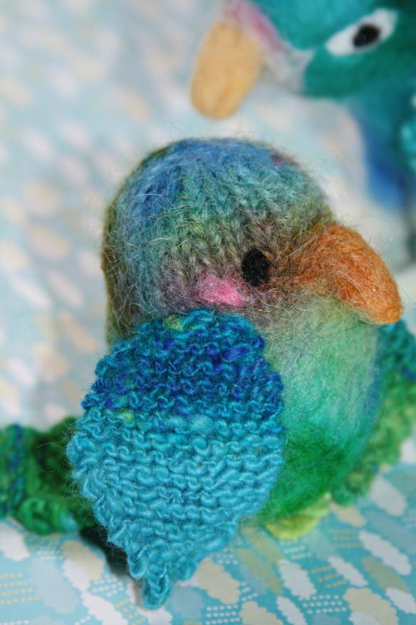 oiseau tricoté